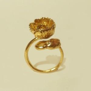お花の指輪〈雛罌粟〉