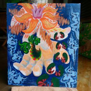溢れるーoverflowー(Acrylic paint)