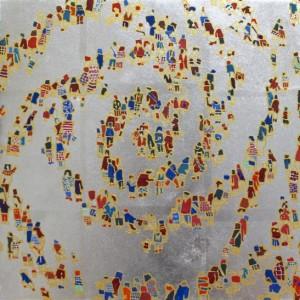 螺旋群像図シルバー