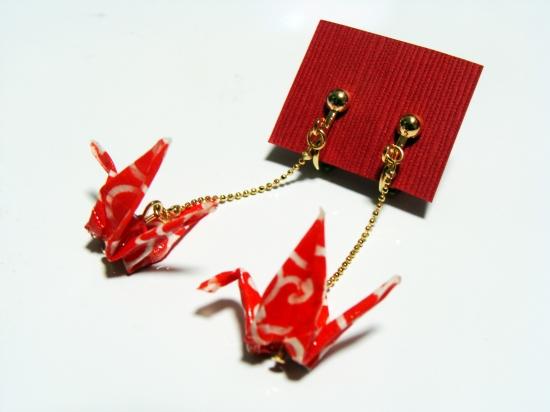 鶴の恩返し(赤・白)