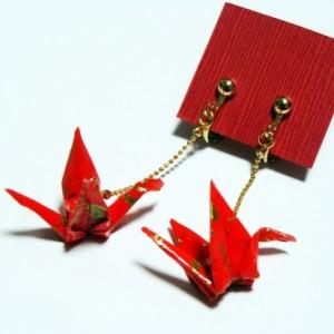 鶴の恩返し(赤・金)