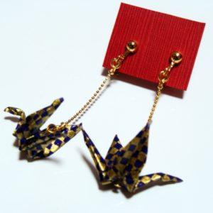 鶴の恩返し(紫・金)