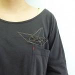 polyhedra ブローチ(黒/L)