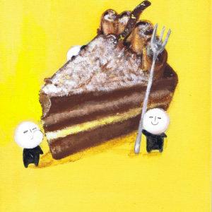 ポールくんとチョコケーキ
