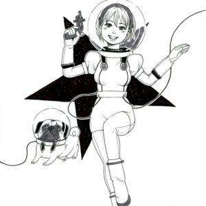 少女宇宙飛行士と犬