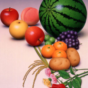 果物と野菜と花