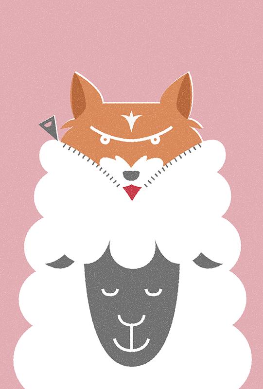 Wolf suffered a sheep skin