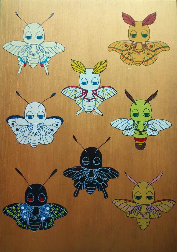 蟲人標本-蛾蝶-