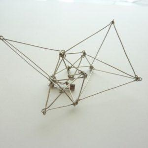 polyhedra ブローチ(銀/L)