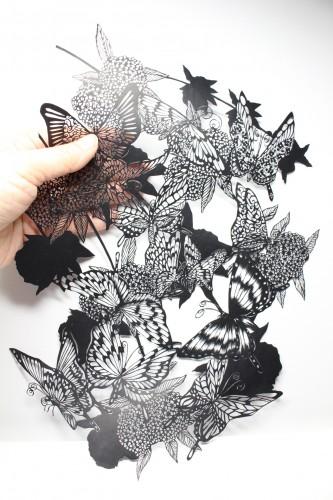 こでまりと蝶