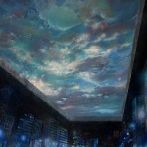 ビル群から見上げる吹き抜けのある風景-洞窟の比喩-